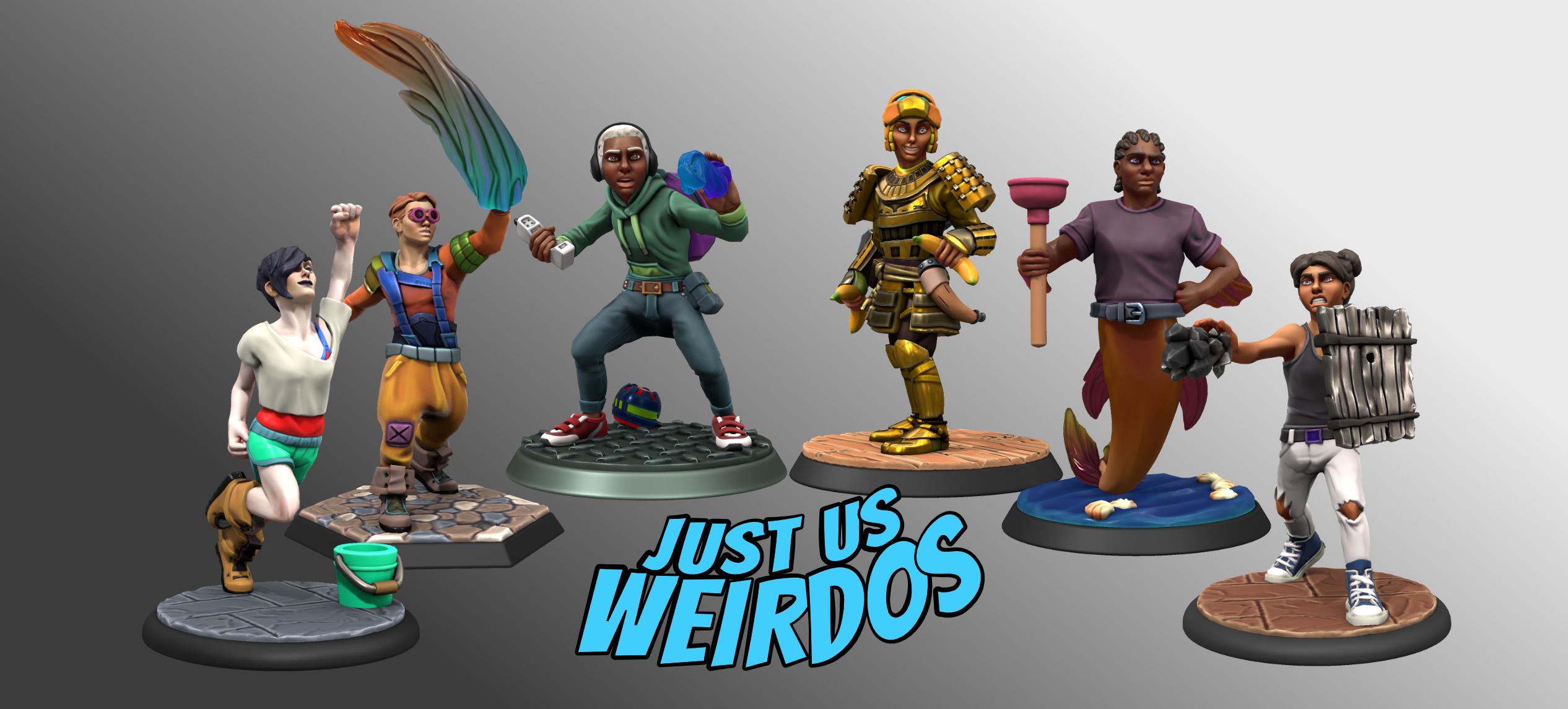 Action figures of the Weirdos in their Season 3 gear